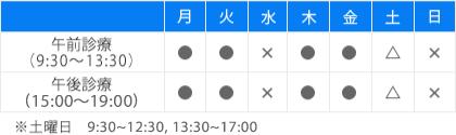 診療時間表